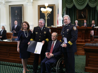 Governor Abbott Presents 2016 Star Of Texas Awards